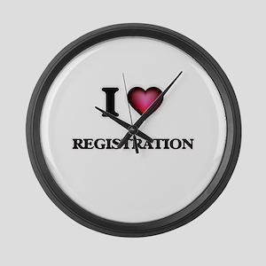 I Love Registration Large Wall Clock