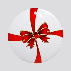 Bow Gift Round Ornament