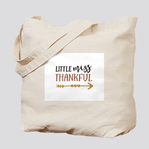 Little Miss Thankful Tote Bag