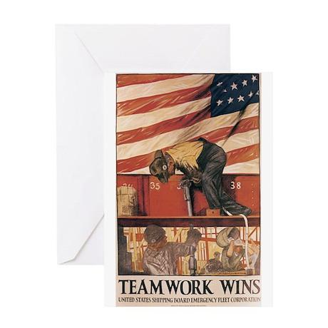 Teamwork Wins Greeting Card