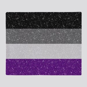 Glitter Asexual Pride Flag Throw Blanket