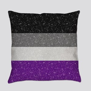 Glitter Asexual Pride Flag Everyday Pillow