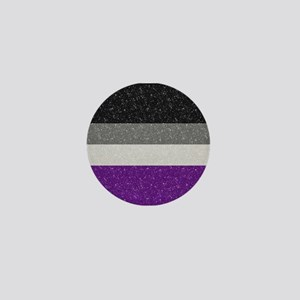 Glitter Asexual Pride Flag Mini Button
