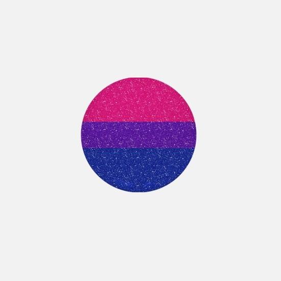Glitter Bisexual Pride Flag Mini Button
