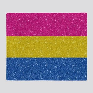 Glitter Pansexual Pride Flag Throw Blanket