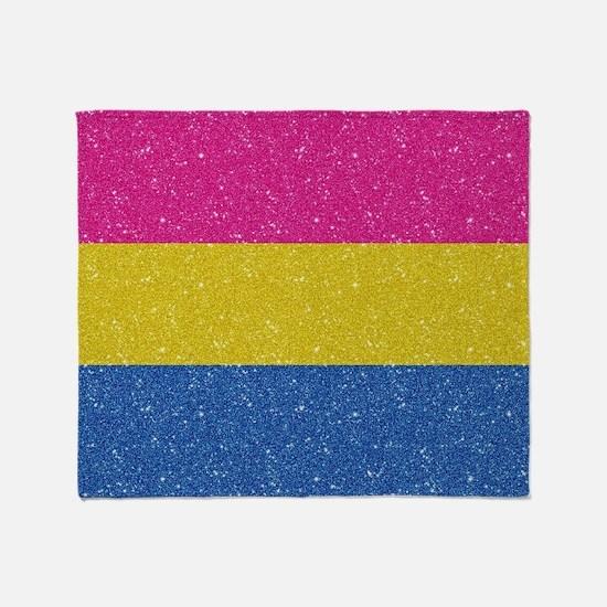 Glitter Pansexual Pride Flag Throw Blanket