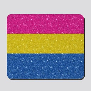 Glitter Pansexual Pride Flag Mousepad