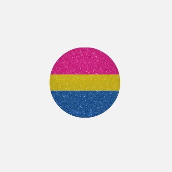 Glitter Pansexual Pride Flag Mini Button