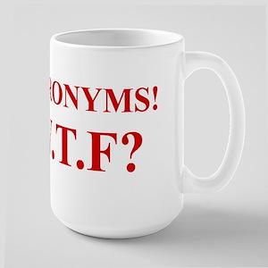 Acronyms! WTF? (Times Roman) Large Mug