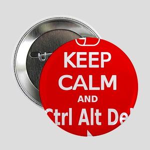 """KC Ctrl Alt Del (red) 2.25"""" Button"""