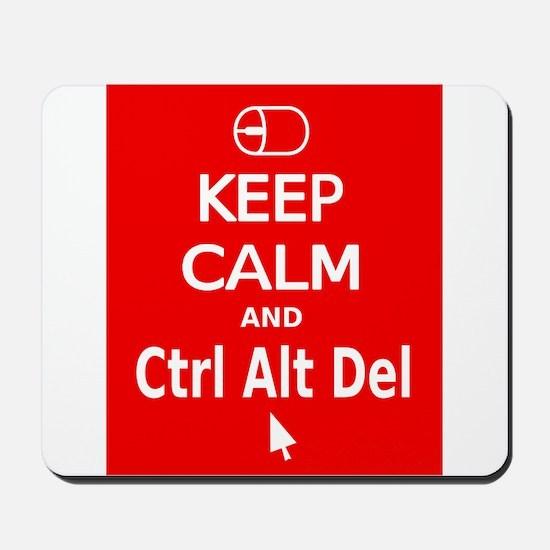 KC Ctrl Alt Del (red) Mousepad