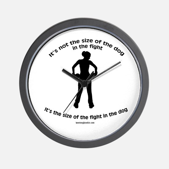 """""""Size doesn't matter"""" quote Wall Clock"""
