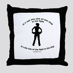 """""""Size doesn't matter"""" quote Throw Pillow"""