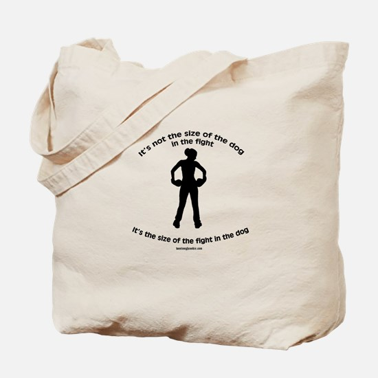 """Size doesn't matter"" quote Tote Bag"