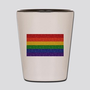 Glitter Rainbow Pride Flag Shot Glass
