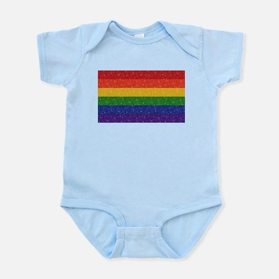 Glitter Rainbow Pride Flag Infant Bodysuit