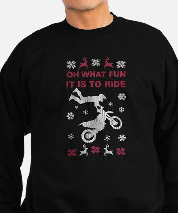 Oh What Fun It Is To Ride Sweatshirt (dark)