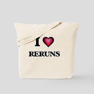 I Love Reruns Tote Bag