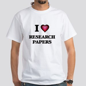 I Love Research Papers T-Shirt
