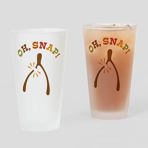 Oh, Snap Wishbone Drinking Glass