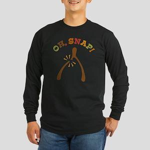 Oh, Snap Wishbone Long Sleeve Dark T-Shirt
