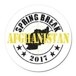 Spring Break Afghanistan Round Car Magnet