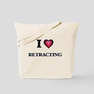 I Love Retracting Tote Bag