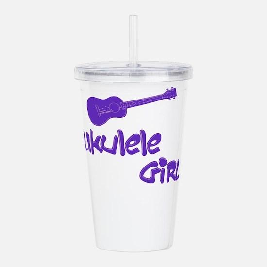 Ukulele Girl Acrylic Double-wall Tumbler