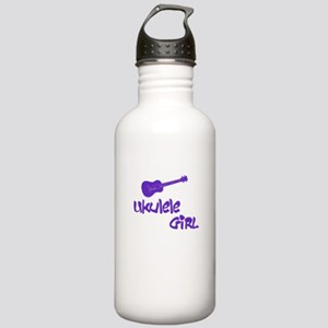 Ukulele Girl Water Bottle
