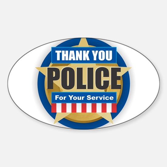 Thank You Police Decal