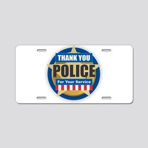 Thank You Police Aluminum License Plate