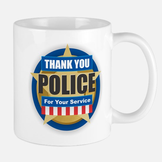 Thank You Police Mugs
