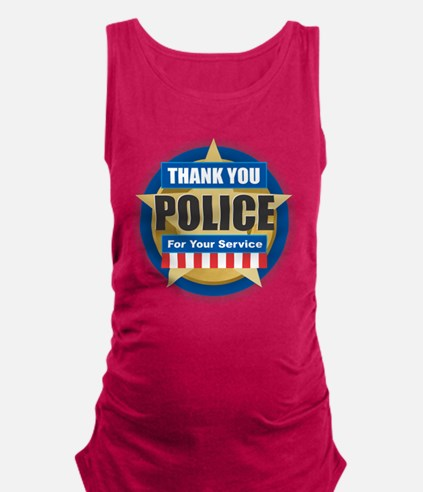 Thank You Police Maternity Tank Top