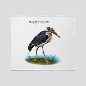 Marabou Stork Throw Blanket