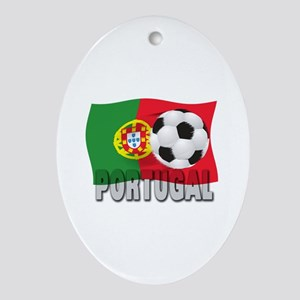 Portugal soccer Oval Ornament