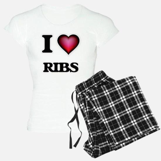 I Love Ribs Pajamas