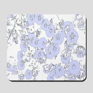 Blue Petunias Mousepad