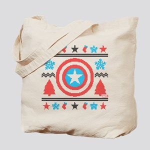 Captain America Ugly Christmas Tote Bag
