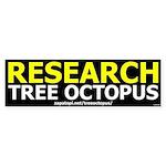 Research Tree Octopus Bumper Sticker
