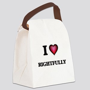 I Love Rightfully Canvas Lunch Bag