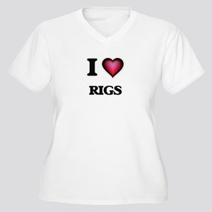 I Love Rigs Plus Size T-Shirt