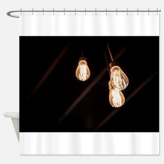 Light Bulbs Shower Curtain