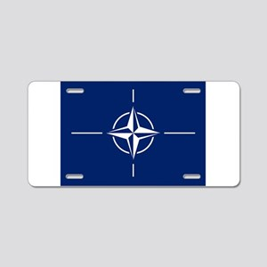 Flag of NATO Aluminum License Plate