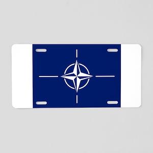 Flag of NATO Aluminum License Plate