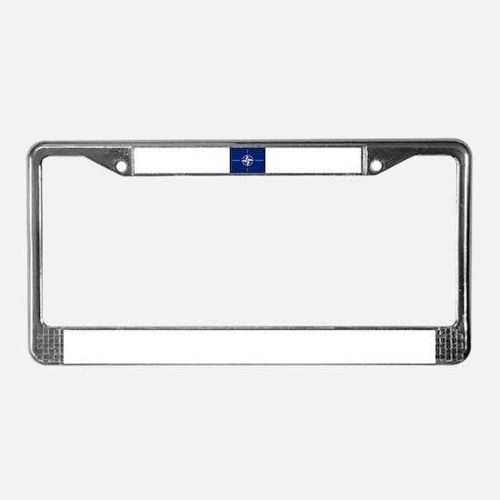 Flag of NATO License Plate Frame