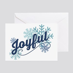 Joyful Snowflakes Greeting Card