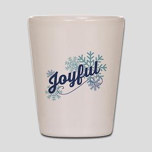 Joyful Snowflakes Shot Glass