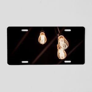 Light Bulbs Aluminum License Plate