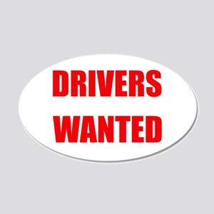 Drivers Wanted Wall Decal