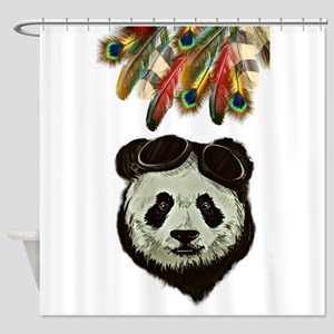 Hipster Panda Shower Curtain